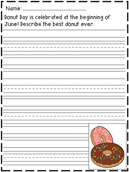 June Writing Prompts (includes holidays!)