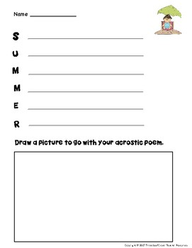 June Writing Prompts with Vocabulary Cards – Great for ESL/ENL