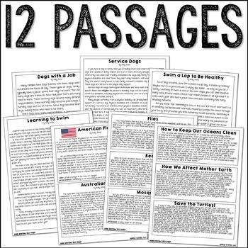 June Writing Test Prep & ELA Paired Passages for Upper Elementary