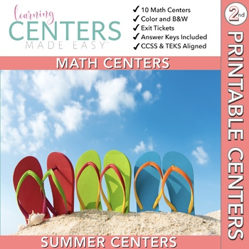 June and July Centers -- 2nd Grade MATH Centers