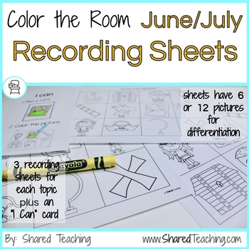 June and July Color the Room Bundle