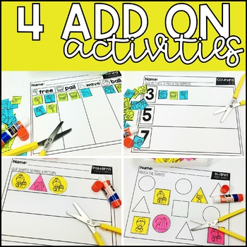 June and July Grab and Go Scissor Skills Activities