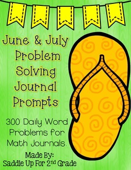 June and July Problem Solving Journal Prompts