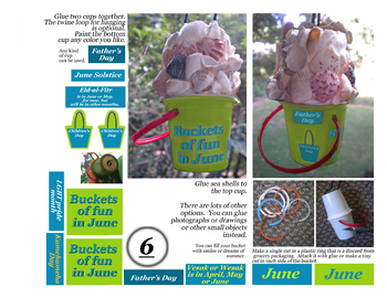 June craft to celebrate Father's Day or other days or simply Summer