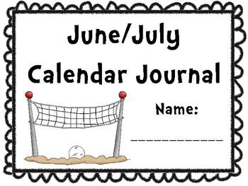 June/July Calendar Journal (Integrates math and literacy!)