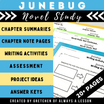 """Junebug"" Novel Study Resource Guide"