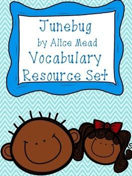 Junebug by Alice Mead Vocabulary Resource Set
