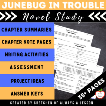 """""""Junebug in Trouble"""" Novel Study Resource Guide"""