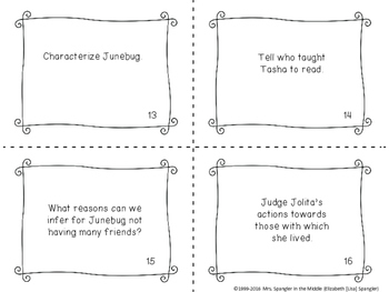 Junebug reading comprehension GAMES - 4 in all!