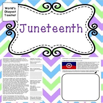 Juneteenth Worksheets Teaching Resources Teachers Pay Teachers