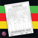 Juneteenth Coloring Page - Celebrate Freedom! poster