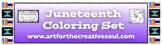 Juneteenth Coloring Set