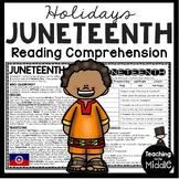 Juneteenth Informational Text Reading Comprehension Worksheet Holidays June