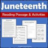 Juneteenth Activities and Reading Passage - Printable & Digital