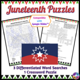 Juneteenth Word Search & Crossword Puzzles