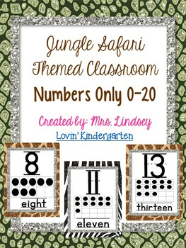 Junge Classroom Decor - Number Posters Only