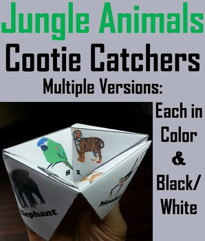 Jungle Animals Activity: Tiger, Jaguar, Wolf, Fox, Snake, Gorilla, Cheetah, Etc.
