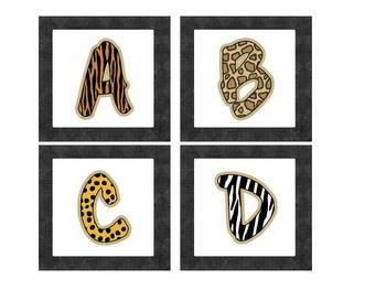 Word Wall Headers: Jungle Themed (uppercase)