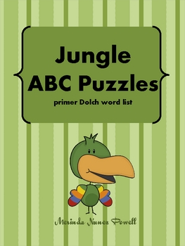 Jungle ABC Puzzles (primer Dolch)