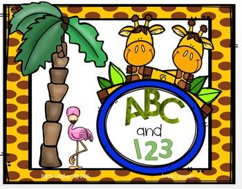 Jungle ABC and 123