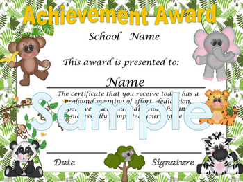 Jungle Achievement award English / Spanish version