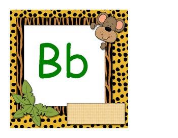Jungle Alphabet Cards - 8x8