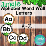 Jungle Alphabet Word Wall Letters