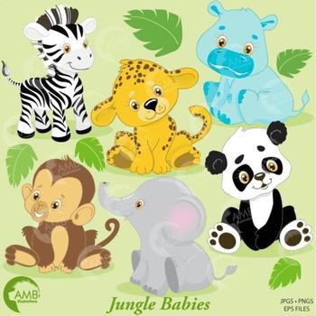 Clipart, Animal Clipart, Jungle Animal Clipart, Baby Animals Clipart, AMB-131