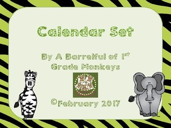 Jungle Animal Calendar Routine