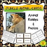Jungle Animal Cards-- Match Pictures, Words, Riddles
