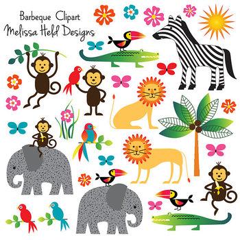 Clipart: Jungle Animal Clip Art