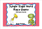 Jungle Animals Sight Word Race