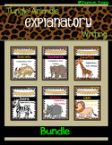 Jungle Animal Explanatory Text *BUNDLE*