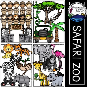 Zoo Clipart (Zoo Animal Clipart | Jungle Clipart | Safari Clipart)