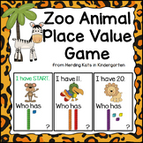 Jungle Animal I Have... Who has..? Place Value Game