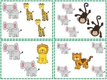 Jungle Animal Math Pack