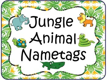 Jungle Animal Nametags