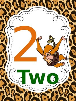Jungle Animal Number Cards