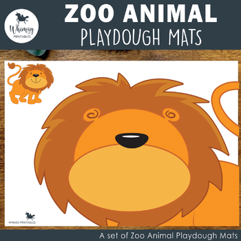 Jungle Animal Playdough Mats