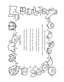 Jungle Animal Poem