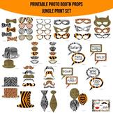Jungle Animal Print Printable Photo Booth Prop Set