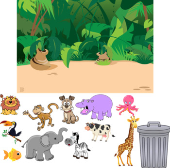 Jungle Animal Sort Smart Notebook