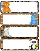 Name Tags and Labels-Jungle Animal Themed and Labels-Editable!