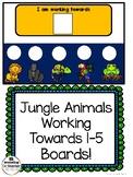 Jungle Animal Working Towards 1-5 Visual Reinforcement Board