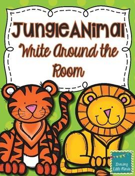 Jungle Animal Write Around the Room