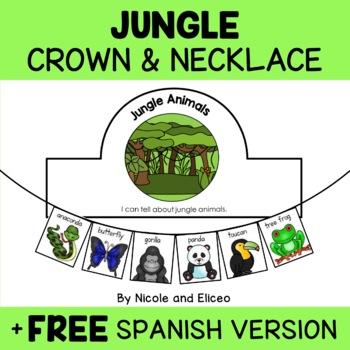 Necklace Craft - Jungle Animals Activity