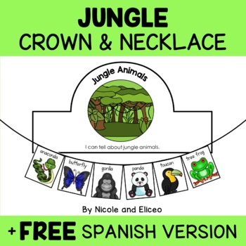Jungle Animals Activity Crown and Necklace