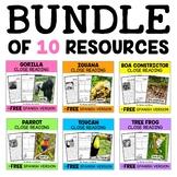 Close Reading Passages - Jungle Animal Activities
