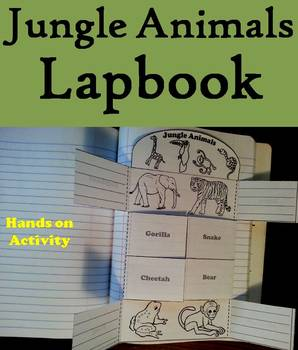 Jungle Animals Activity: Interactive Notebook Foldable/ Coloring Book