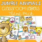 JUNGLE ANIMALS Editable Name Tags, Labels, Posters & Door Display
